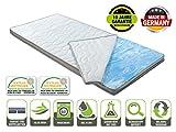 BMM Topper Gel-Schaum Matratzenauflage für Matratzen, Aloe Vera 3D-Klimaband Border Bezug, Raumgewicht RG