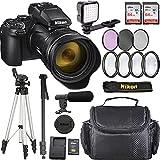 Nikon COOLPIX P1000 Camera with Advanced Bundle, 26522 (Microphone, LED Light, Tripod, Monopod, 2x64Gb and More)