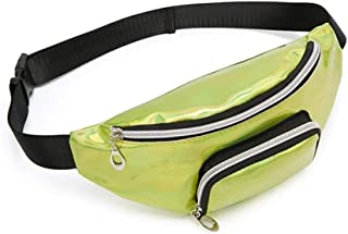 YWSCXMY-AU Fashion Fanny Pack Laser Holographic Waist Bag Pink Pu Silver Hip Bag Chest Phone Pouch (Color : Green)