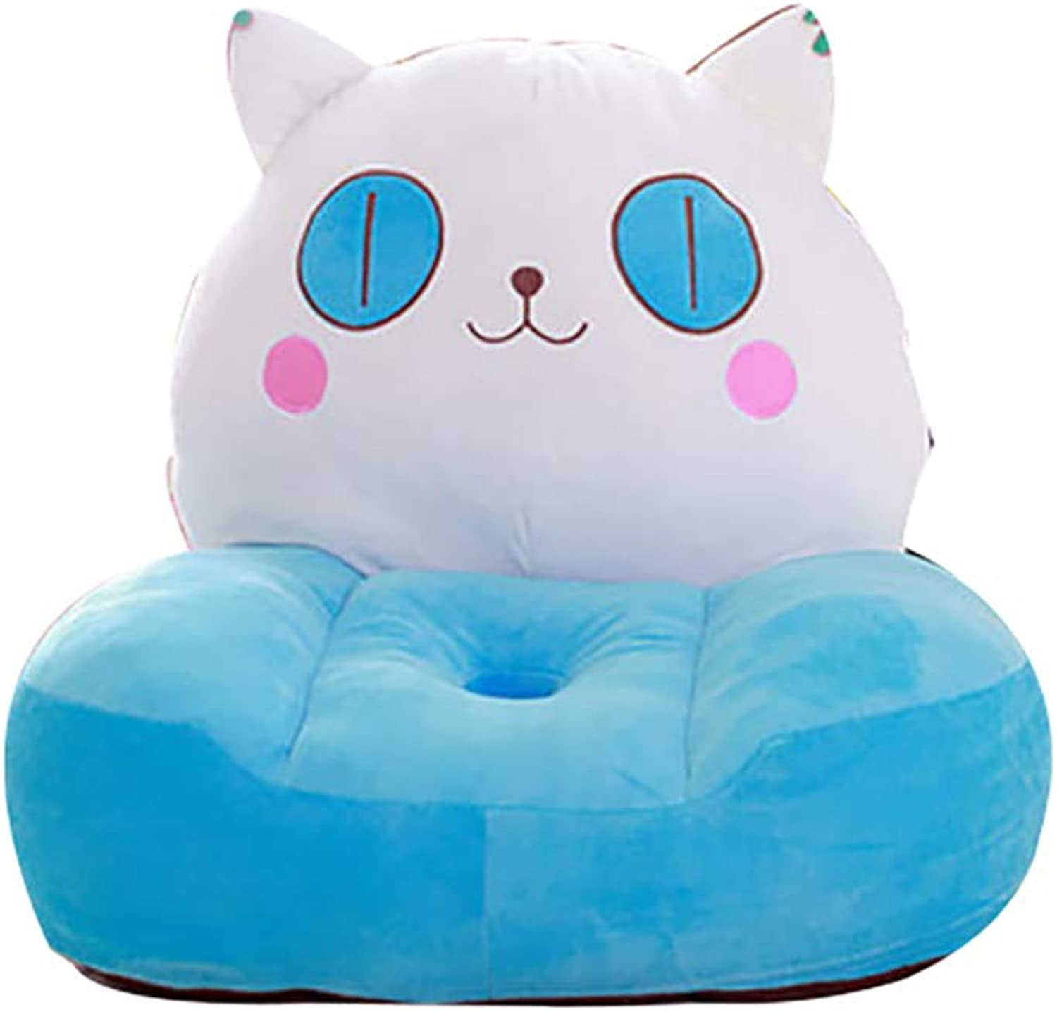 Kids Photo Props Mini Sofa, Soft Plush Chair Cute Cartoon Cushion Detachable Washable Breathable Couch for Gaming Room-cat