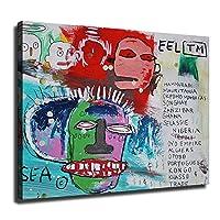 Untitled-Jean Michel Basquiat ジャン・ミシェル・バスキアポスター、グラフィティアールヌーボーアートパネル絵画フォトフレーム印刷ダンフレーム印象派ヨーロッパ壁壁紙壁画美術-157 (30x40cm,額装)