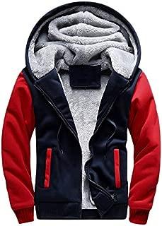 Men's Sweater Casual Loose Fleece Kangaroo Pocket Long Sleeve Hoodie Zipper Sweatshirt