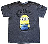 Despicable Me Whaaaa? Mens Silver T-shirt (Medium, Dark Grey Heather)