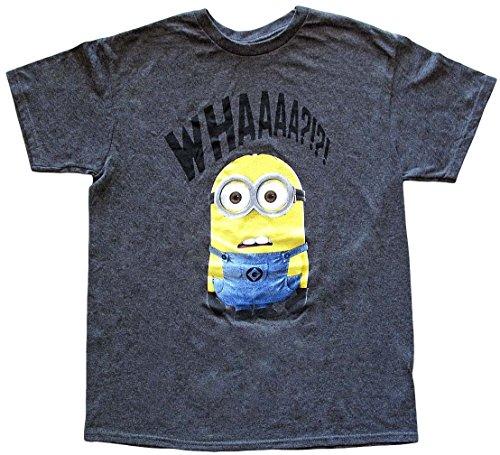 Ich - Einfach Unverbesserlich Whaaaa? Minions T-Shirt - Grau - Mittel