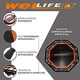 Zoom IMG-1 wellife trampolino elastico fitness pieghevole