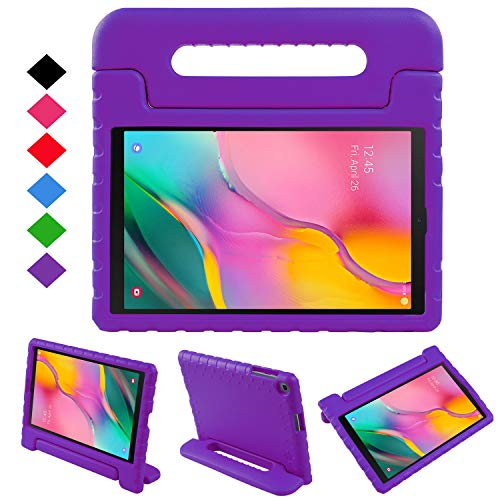 NEWSTYLE Case for Samsung Galaxy Tab A 10.1 2019,Kids Shock Proof Convertible Handle Light Weight Super Protective Stand Case for Galaxy Tab A 10.1 inch SM-T510/SM-T515 2019 Tablet (Purple)