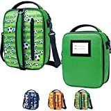 Product Image of the Insulated Soccer Lunch Bag For Boys & Girls Kids School Lunch Box Washable...