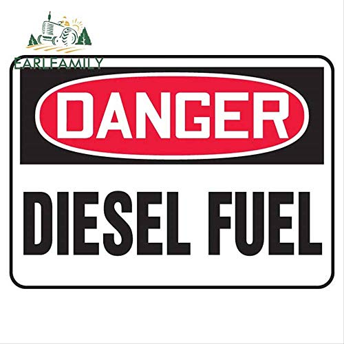JYIP 13cm x 9.4cm DANGER DIESEL FUEL Sticker Truck Car Vehicle 4x4 ATV Safety Signs Decal Cover Scratches sticker de carro