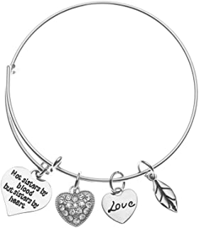 Infinity Collection Best Friends Bracelets- Not Sisters by Blood But Sisters by Heart Bracelet- Friend Jewelry for Friends