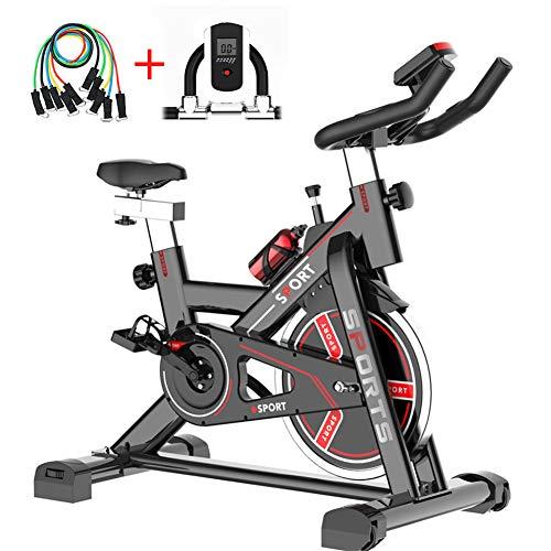 Indoor Spinning Fiets met LCD-scherm Ultrastille Hometrainer Huishoudelijke Fiets Sport Fitnessapparatuur Oneindig Variabele Snelheid Fitnesstrainer