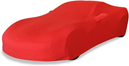 2005-2013 C6 Corvette Indoor Ultraguard Stretch Satin Car Cover (Red) by West Coast Corvette / Camaro