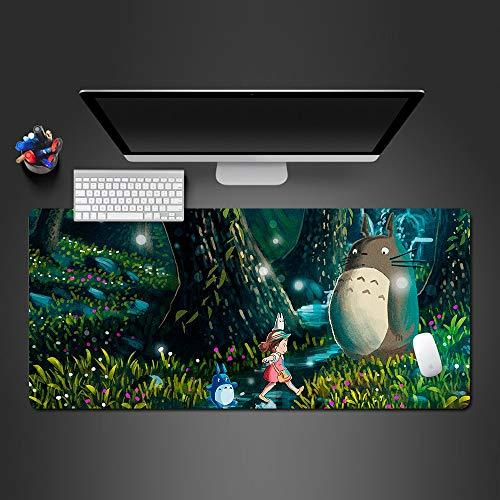 Muismat 900X400*3Mm muismat nieuwe anti-slip Pc mijn buurman Totoro Anime paraplu's Silicon muismat Mat Muizen Pad Anime Gaming Mousepad Beste cadeau