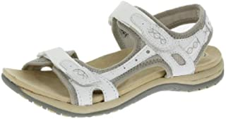 96bf9d88f86fb Earth Spirit Frisco Ladies Suede Touch Fasten Sandals White