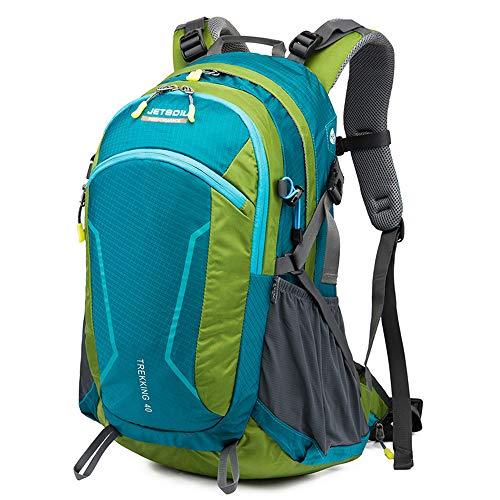 Mochila de Senderismo, Chickwin 40L Mochila de Montañismo Multifuncional Impermeable Mochilas para Mochileros Deportes al Aire Libre Excursionismo Escalada Trekking Acampada (azul verde,53*24*32cm)