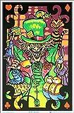 UltraViolet Distributing Alice in Wonderland Mad Hatter Collage Flocked Blacklight Poster Art Print (Design 1, 1)