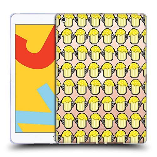 Officiële Grace Illustration Bier Patronen Soft Gel Case Compatibel voor Apple iPad 10.2 (2019)