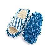 TrifyCore Chenilla Zapatilla de casa Bohner pies para espolvorear Calcetines limpios los Zapatos de los Deslizadores de la fregona de Superficies múltiples Zapatos de la Limpieza del Polvo Limpiador