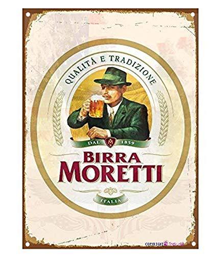 Eletina twinkle Letrero de aluminio vintage 1859 Quata E Tradizione Birra Moretti...
