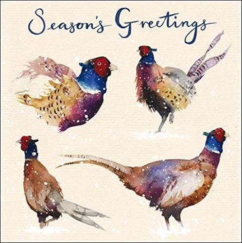 Pack of 5 Pheasants Samaritans Charity Christmas Cards Xmas Card Packs
