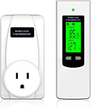 DUOLANG Wireless Thermostat, Temperature Controller with Remote Control, Plug In Thermostat for Heater, Heating & Cooling ...