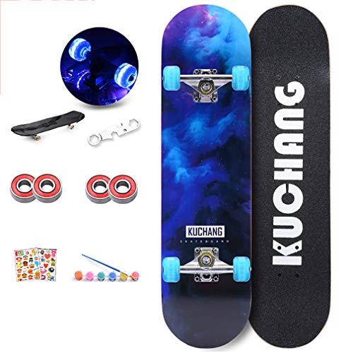 Komplettes Skateboard, Street Skateboard Board Für Erwachsene, Kinder Und Jugendliche, Mehrere Designs