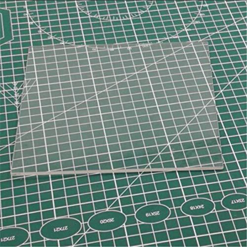 Farleshop 1pc Vetro borosilicato Letto, 170 Millimetri X 170 Millimetri for Stampante Lulzbot Mini 3D Parti borosilicato Vetro for Costruzioni Piastra