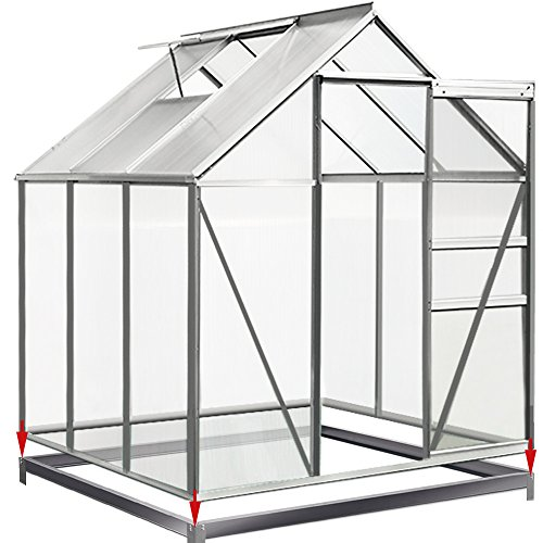 Deuba Fundament verzinkt 190x190cm Stahlfundament Gewächshaus Treibhaus Rahmen inkl. Montagematerial