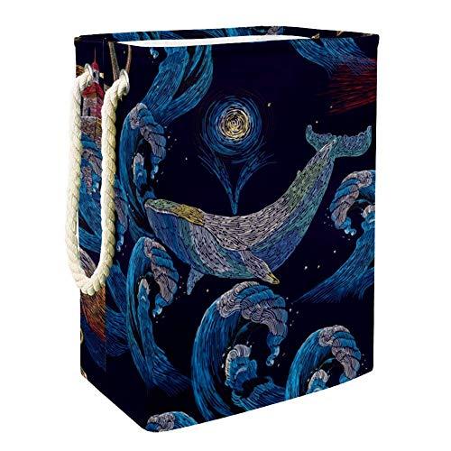 AIBILI - Cesta para la colada (49 x 30 x 40,5 cm), Ballenas