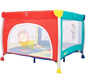 LNDDP Portable Baby Playpen Square Travel Cot Bed Foldable Play Yard With Cushions Colors Available  Color