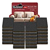 Non Slip Furniture Pads -24 pcs 2'' Furniture Grippers, Non Skid for Furniture Legs,Self Adhesive Rubber Feet Furniture Feet,Anti Slide Furniture Hardwood Floors Protectors for Keep Couch Stoppers