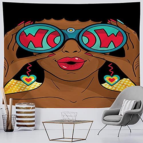 NTtie Tapices Decoración para Dormitorio o Sala de Estar, Impresión Digital de Tela Colgante Mujer Africana