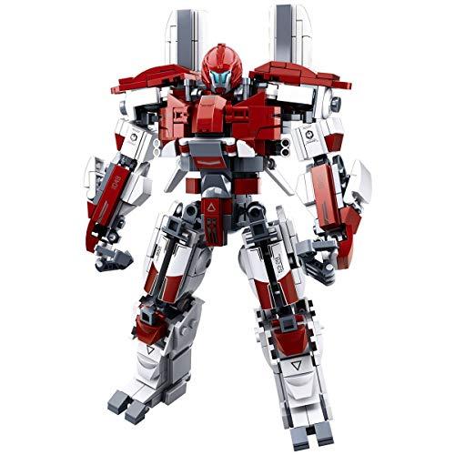 LionMoc Moc Creator Mech - 'Pacific Rim' DIY Mecha Building Block Bricks Machine Toy Compatible with Lego Building Set (Guardian-Bravo)