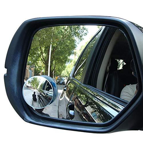Auto-Rückspiegel Kleiner runder Spiegel 360 Grad einstellbar umkehrbarer blinder Fleck randlos HD Weitwinkel 2 Pack