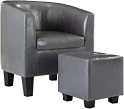 Armchair Sofa Recliner Chair Comfortable Chair with Footstool for Living Room Bedroom and Office