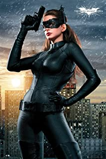 BEYONDTHEWALL® Archive Batman Dark Knight Rises Catwoman (Anne Hathaway) Superhero Action Movie Film Print (24x36 Unframed Poster)