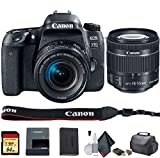 Canon EOS 77D DSLR Camera with 18-55mm Lens (International Model) (1892C016) - Starter Bundle