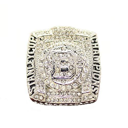 NHL 2011 BOSTON BRUINS Champion Ring Campeonato Anillos,Campeones Anillo de réplica para Aficionados de los Hombres de la colección del Regalo del Recuerdo de la Pantalla,Without box,8
