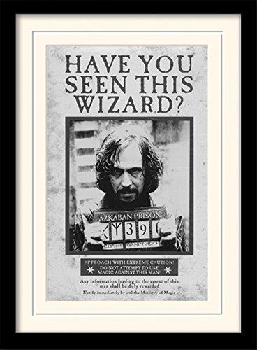 Harry Potter 1art1 Gefangene Von Azkaban, Sirius Black Wanted Gerahmtes Bild Mit Edlem Passepartout   Wand-Bilder   Kunstdruck Poster Im Bilderrahmen 40 x 30 cm