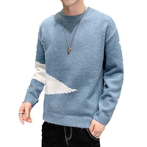 Suéter de Invierno para Hombre, suéter Grueso de Cuello Redondo, suéter, Camisa de Fondo cálido