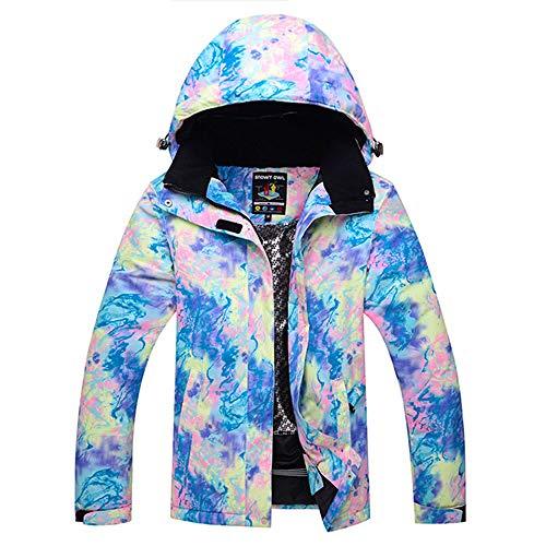 JSGJHXFShining Skipak voor dames, waterdicht, winddicht, ademend, voor meisjes, sneeuwpak, jasriem, skibroek