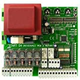 Nologo Universal Central para puerta automática 1/2 puerta START-S4XL Cam BFT Nice ECC, negro