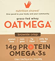 Boundless Nutrition Brownie Crisp Oatmega Bar, 12 Count 1.80Oz/50g per bar by Boundless Nutrition
