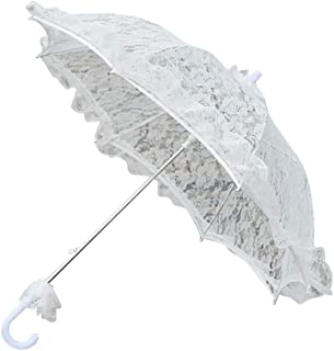 small white lace umbrella