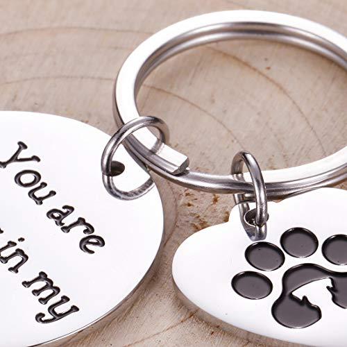 Pet Memorial Gifts Keychain for Pet Dogs Owner Dog Mom Dad Remembrance Memory Sympathy Gifts for Loss of Dog Pet Loss Gifts Keepsake for Dog Lover You are Always in My Heart Paw Print Keyring Photo #2