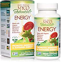 Host Defense, MycoBotanicals Energy, Promotes Immediate and Sustained Energy, Daily Mushrooms and Herb Supplement with Reishi and Cordyceps, Vegan, Organic, 60 Capsules (30 Servings)