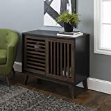 Walker Edison Furniture TV Stand, 36', Black/Dark Walnut
