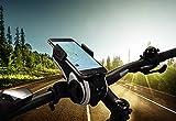 FISCHER Smartphone-Halter mit Musikbox und Powerbank für Fahrrad, Smartphone Halterung, Universal Handyhalter, für Smartphones mit 50 - 90 mm Breite