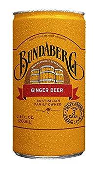 Bundaberg Ginger Beer 6.8 fl oz Cans  24 Pack