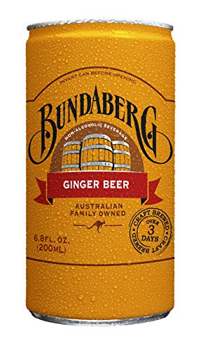 Bundaberg Ginger Beer, 6.8 fl oz Cans, (24 Pack)