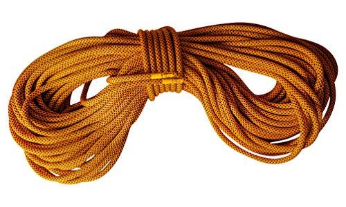 Mantle - Kletterseil 60m 9,8mm schwarz orange als dynamisches Einfachseil Climbing Rope